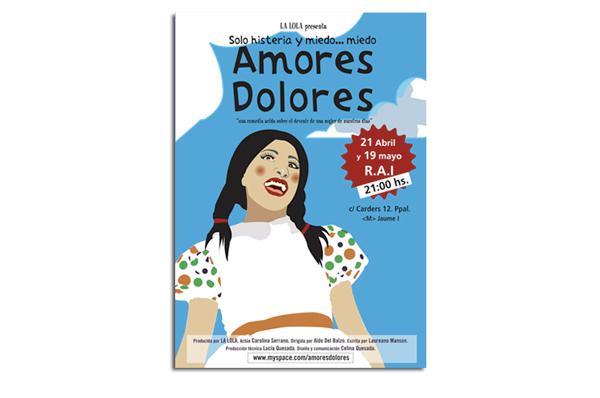 Cartel para la obra Amores Dolores