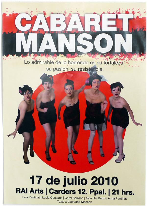 Cartel para Cabaret Manson