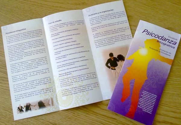 Psicodanza Integrativa: Diseño e impresión de tríptico