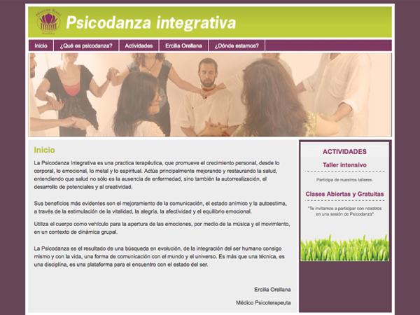 Originarte Diseño Web: Psicodanza Integrativa