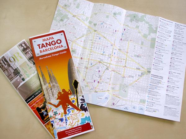 Originarte Diseño e Impresión: Mapa del Tango en Barcelona
