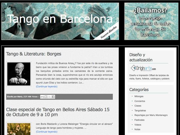 Tango en Barcelona: Diseño web Originarte