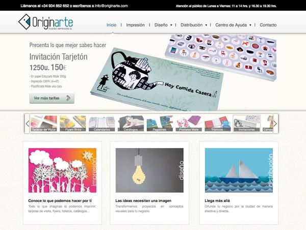 Web Originarte Diseño e Impresión: Impresiones on-line