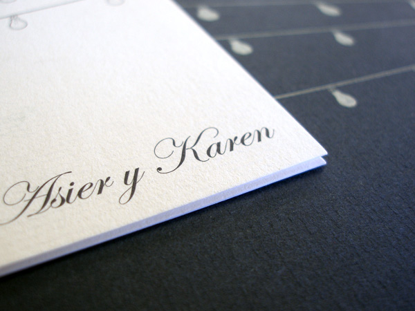 Impresión invitación díptico, tarjeta y adhesivo para boda