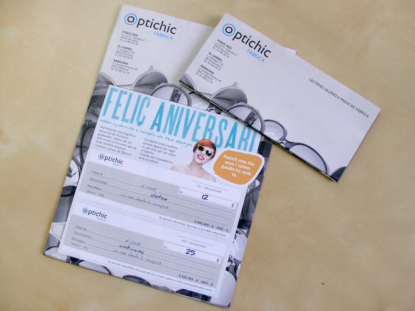Diseño e impresión offset carta mailing papelería comercial Optichic