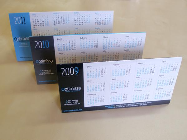 Impresión calendarios Optimissa