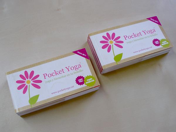 Impresión offset Pocket Yoga talonario cheques regalo