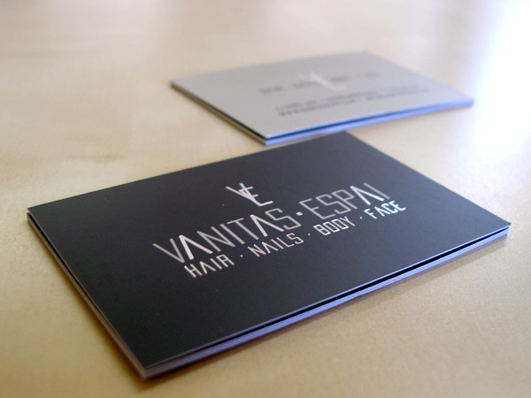 Impresión Tríptico y Tarjeta de visita Vanitas Espai