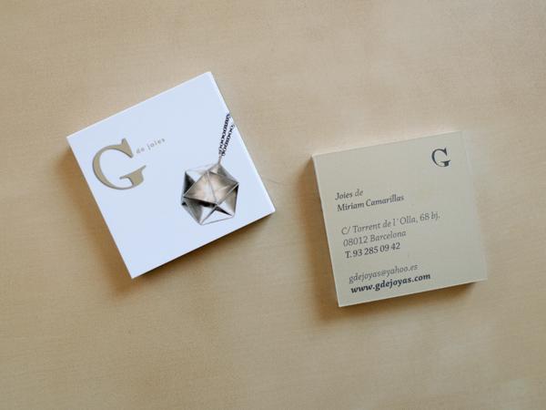 Originarte diseño e impresión tarjeta de visita G de Joiers