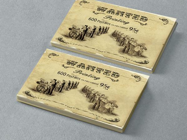 Originarte diseño e impresion folleto postal mate
