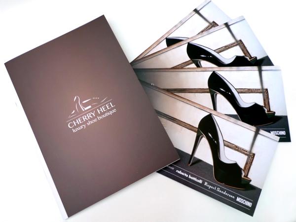 Originarte Impresión tarjetón y catálogo para cherry heel