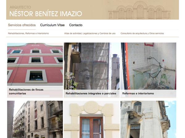 Originarte Diseño de página web para NBI Arquitectos
