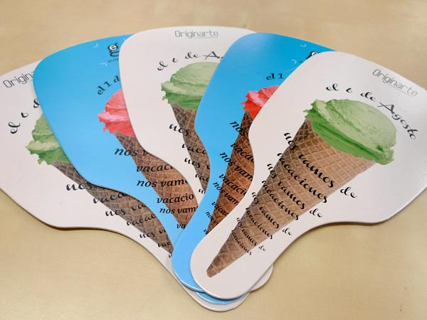 Originarte diseño e impresión abanicos de papel promocionales
