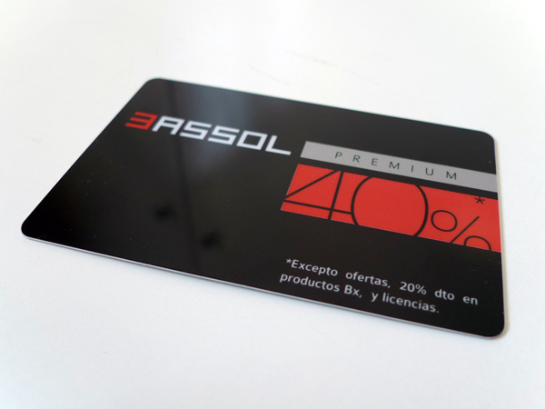 Originarte Impresión de tarjetas de PVC para Bassol Ópticas