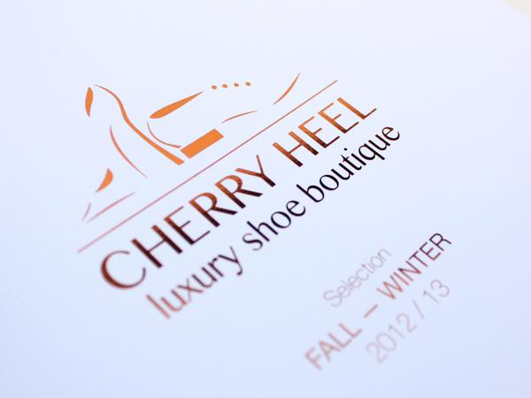 Originarte impresión de catálogo para Cherry Heel