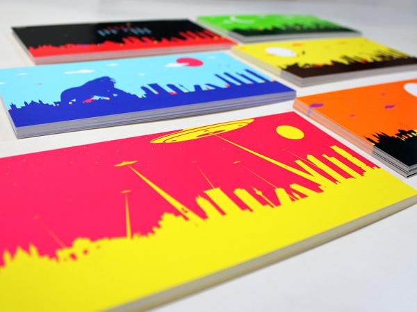 Originarte Impresión de postales en colores PANTONE para SkyWorld