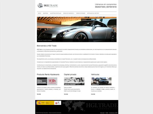 Originarte Diseño y programación web para HGI Trade