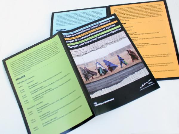 Originarte diseño e impresión de programa póster cuadriptico para ASHDA