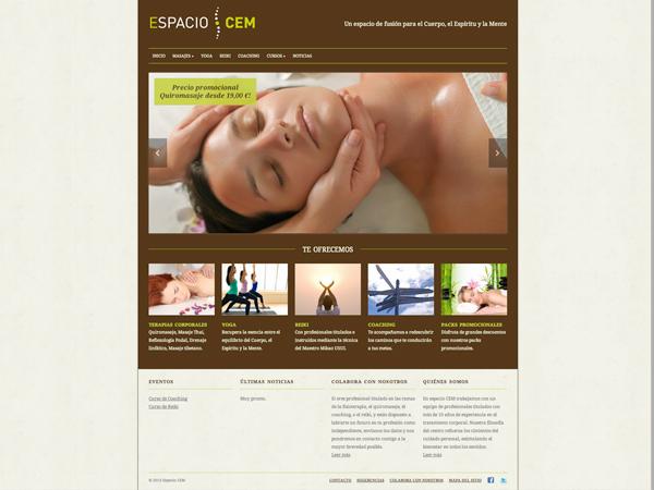 Originarte: Diseño y maquetación web para Espacio CEM