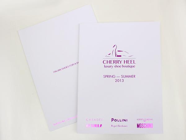 Originarte: Impresión de catálogo para Cherry Heel