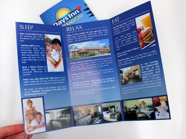 Originarte: Impresión y diseño de tríptico para Days Inn Miramichi