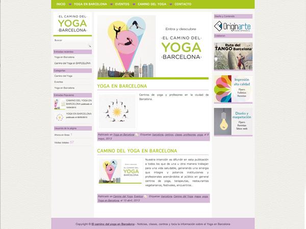Diseño y programación web para Yoga en Barcelona