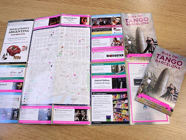 Originarte: Diseño e impresión de mapa Ruta del tango en Barcelona