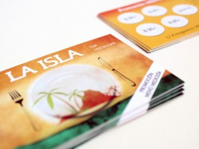 Diseño e impresión de tarjetas para La Isla