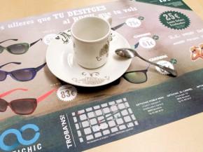Impresión de mantel promocional para Optichic