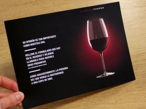 Vinoteca Torres: impresión tarjetón
