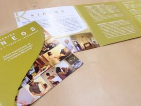 Tríptico Kineos: impresión y diseño