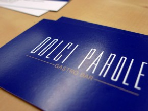 Impresión de tarjeta de visita para Dolce Parole