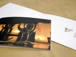 Impresión de díptico postal