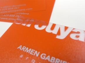 Impresión tarjetas plástico traslúcido