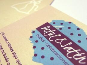 Diseño e impresión de postales Detul y Satén