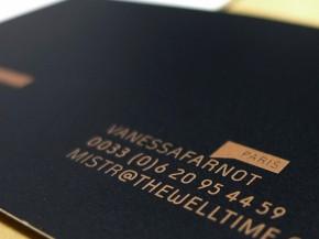 Impresión de tarjetas dos tintas PANTONE